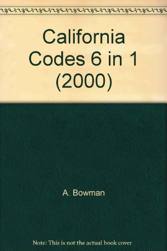 Standard California Codes 2000 Edition, W/Supplement