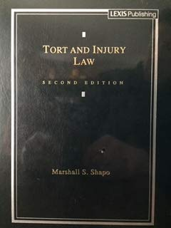 9780820542966: Tort and Injury Law (Cases and Materials)