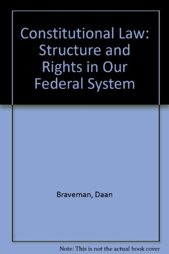 9780820543741: Constitutional Law: Structure and Rights in Our Federal System