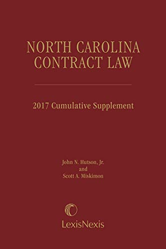 9780820548821: North Carolina Contract Law