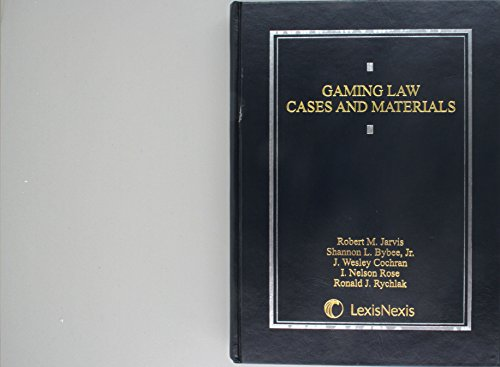 9780820549064: Gaming Law: Cases and Materials