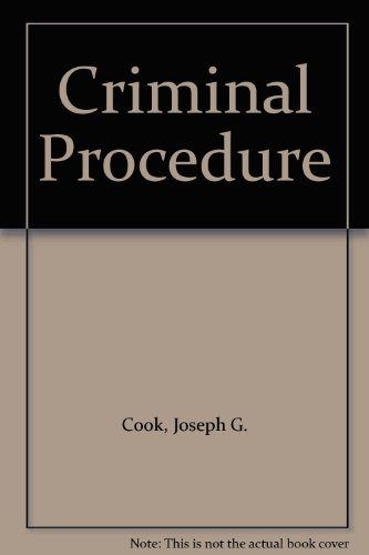 9780820550190: Criminal Procedure