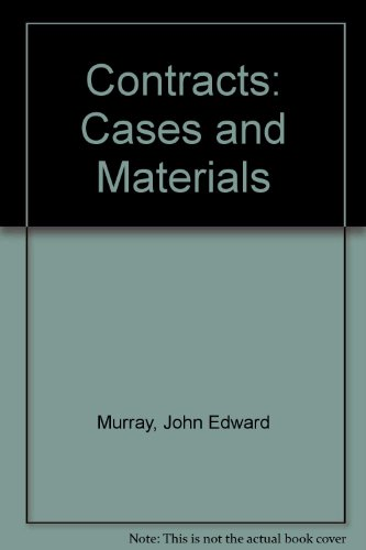 9780820551586: Contracts: Cases and Materials