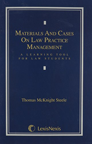 9780820553474: Materials & Cases on Law Practice Management: A Learning Tool for Law Students
