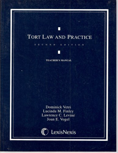 9780820554167: Tort Law and Practice, Teacher's Manual