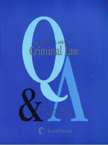 9780820556628: Questions & Answers: Criminal Law- Multiple Choice and Short Questions and Answers