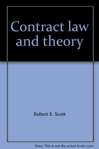 9780820557830: Contract law and theory