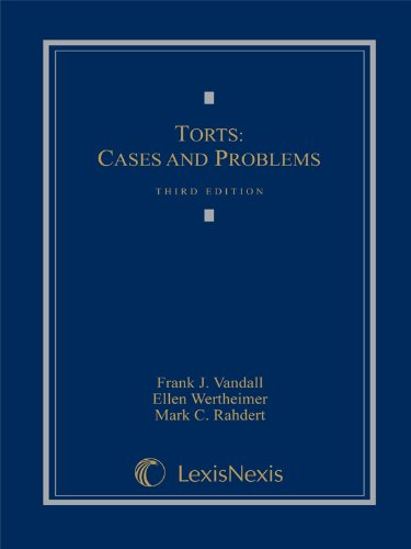 9780820558509: Torts: Cases and Problems