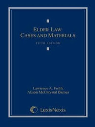 9780820558875: Elder Law: Cases, and Materials.