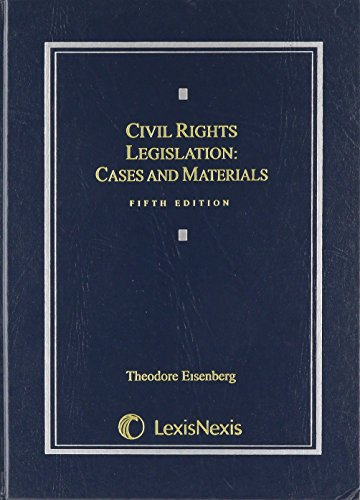 9780820559919: Civil Rights Legislation: Cases and Materials