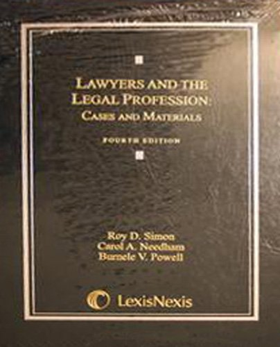 9780820561158: Lawyers and the Legal Profession: Cases and Materials