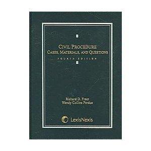 9780820562384: Civil Procedure: Cases, Materials, And Questions