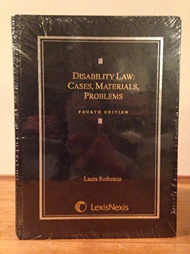9780820564708: Disability Law: Cases, Materials, Problems