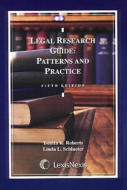 9780820564722: Legal Research Guide: Patterns and Practice