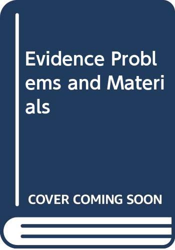 9780820570235: Evidence Problems and Materials