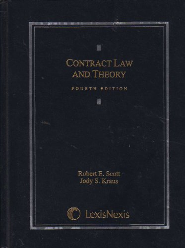 9780820570297: Contract Law and Theory (2007)