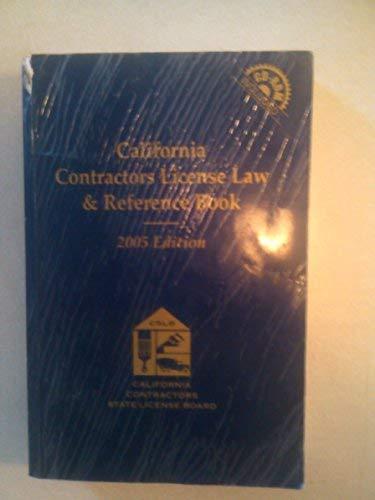 9780820580623: California Contractors License Law & Reference Book