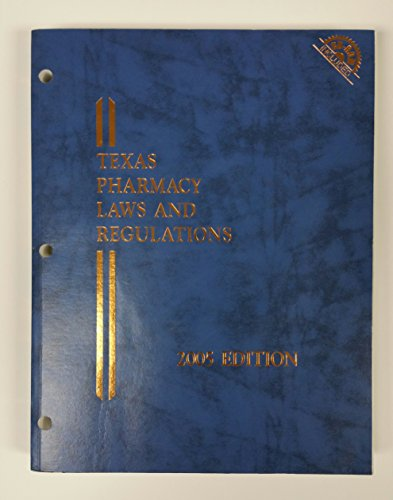 9780820582047: Texas Pharmacy Law And Regulations
