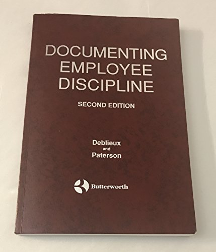Documenting Employee Discipline: Paterson, Lee T.
