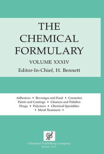 9780820603520: The Chemical Formulary Vol. 34