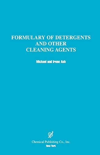 9780820603698: Formulary of Detergents & Other Cleaning Agents