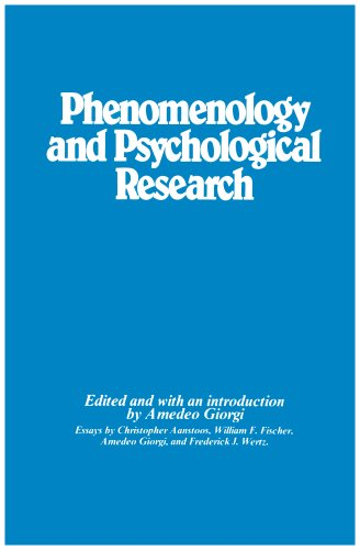 9780820701745: Phenomenology and Psychological Research