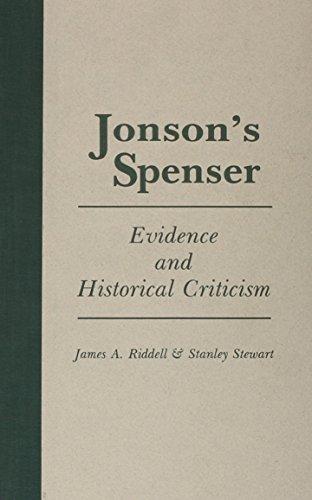 Jonson's Spenser: Riddell, James A.