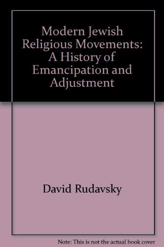 9780821000335: MODERN JEWISH RELIGIOUS MOVEMENTS