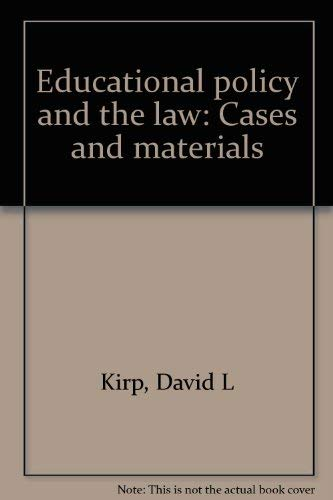 9780821110157: Educational policy and the law: Cases and materials