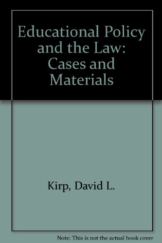 9780821110201: Educational Policy and the Law: Cases and Materials