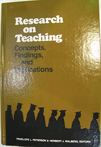 9780821115183: Research on Teaching: Concepts, Findings and Implications (Series on contemporary educational issues)