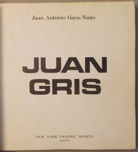9780821206676: Juan Gris [Hardcover] by Gaya Nuno, Juan Antonio