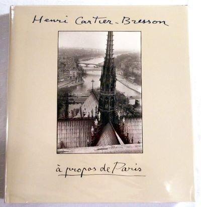 9780821220641: Henri Cartier-Bresson: A Propos De Paris