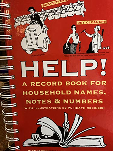 9780821223659: Help!: A Record Book for Household Names, Notes & Numbers