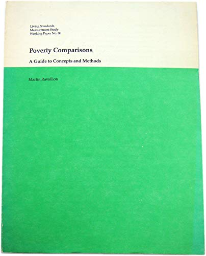 9780821320365: Poverty Comparisons: A Guide to Concepts and Methods (Lsms Working Paper)