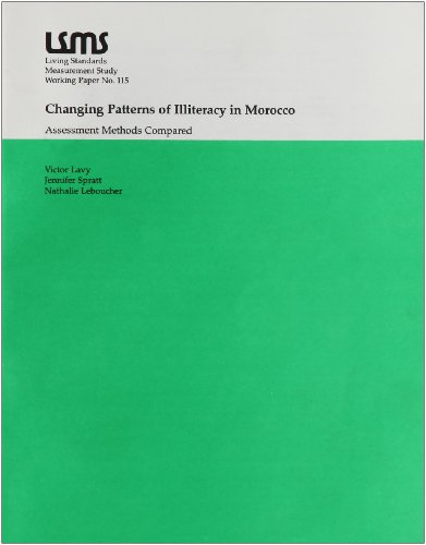 9780821331927: Changing Patterns of Illiteracy in Morocco: Assessment Methods Compared (Lsms Working Paper)