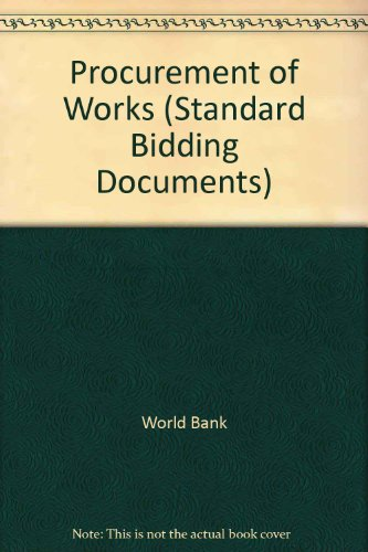 9780821333099: Procurement of Works: Standard Bidding Documents