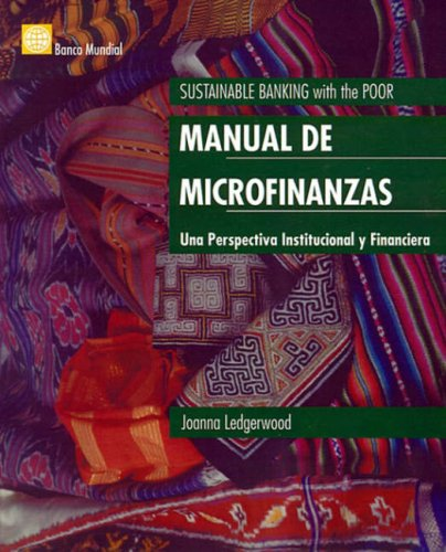 9780821346778: Manual de las microfinanzas: Una perspectiva institucional y financiera (Spanish Edition)