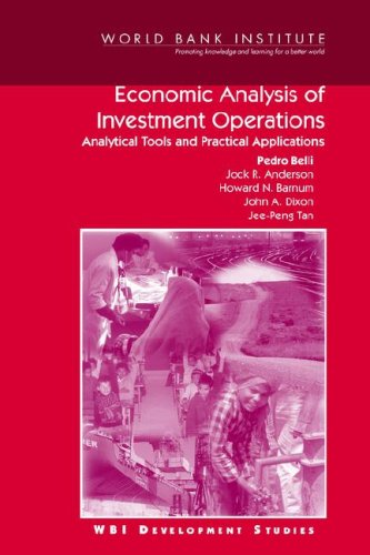 9780821348505: Economic Analysis of Investment Operations: Analytical Tools and Practical Applications (WBI Development Studies)