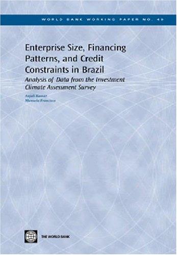 Enterprise Size, Financing Patterns, and Credit Constraints: Anjali Kumar, Manuela