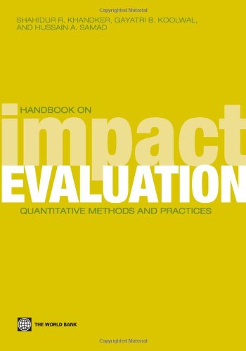 9780821380284: Handbook on Impact Evaluation: Quantitative Methods and Practices (World Bank Training Series)