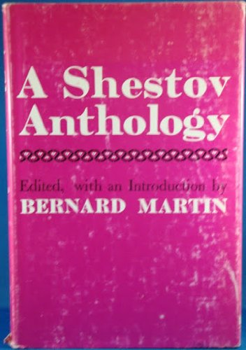 A Shestov anthology: Lev Shestov