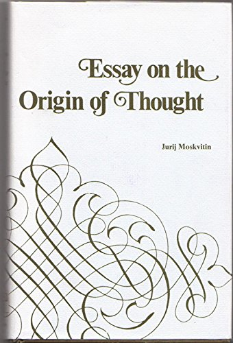 9780821401569: Essay on the origin of thought