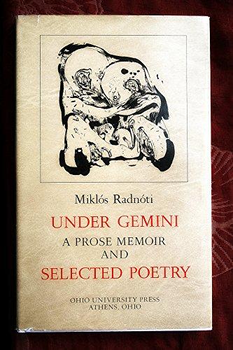9780821407639: Under Gemini: A Prose Memoir and Selected Poetry