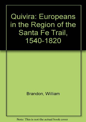 9780821409503: Quivira: Europeans In Region Santa Fe Trail
