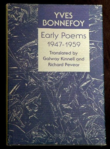 Early Poems 1947-1959 (0821409662) by Yves Bonnefoy