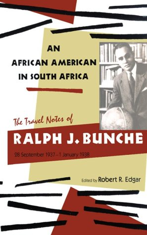 9780821410219: An African American in South Africa: The Travel Notes of Ralph J. Bunche, 28 September 1937-1 January 1938
