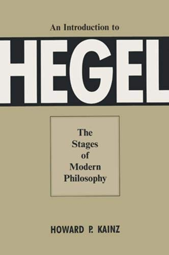 9780821411414: An Introduction To Hegel: The Stages Of Modern Philosophy