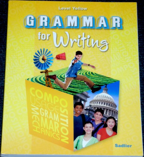 9780821502181: Grammar for Writing, Level Yellow