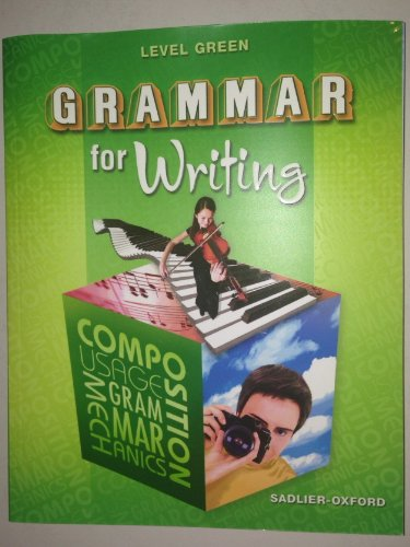 9780821502211: Grammar for Writing: Level Green